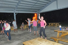 Late Night Dance at Country Roads Campground