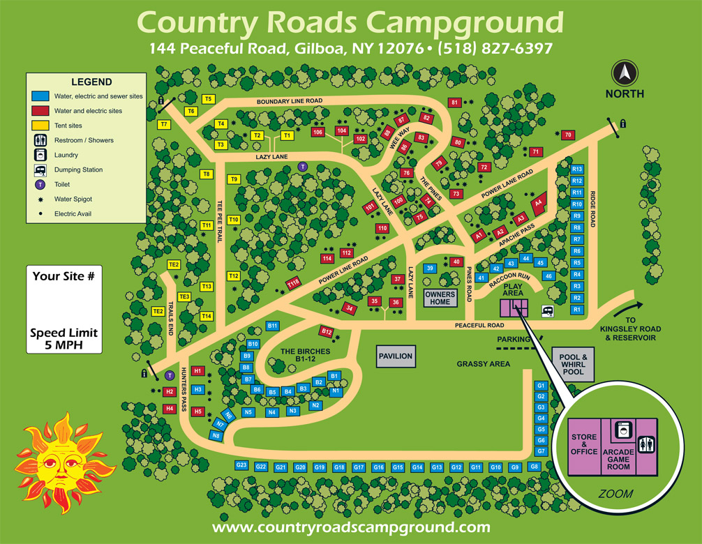 Country Roads Site Map
