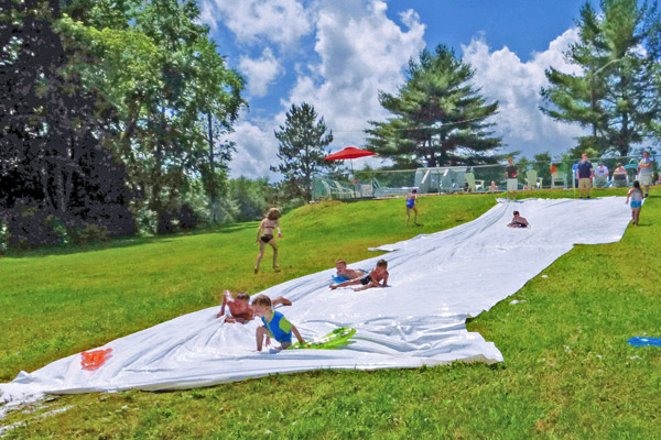 Slip and Slide at Country Roads Campground
